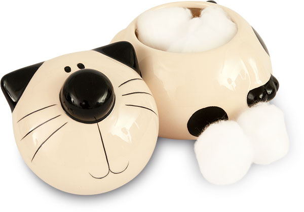 2Kewt Ceramic Cotton Ball Lidded Holder