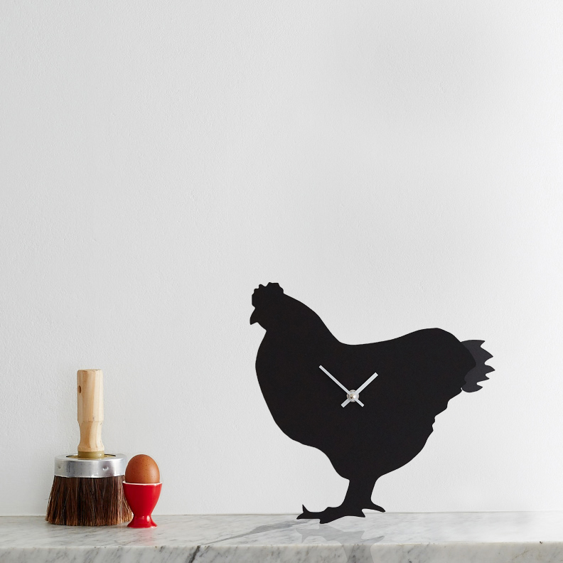 Chicken Battery Operated Wall Clock